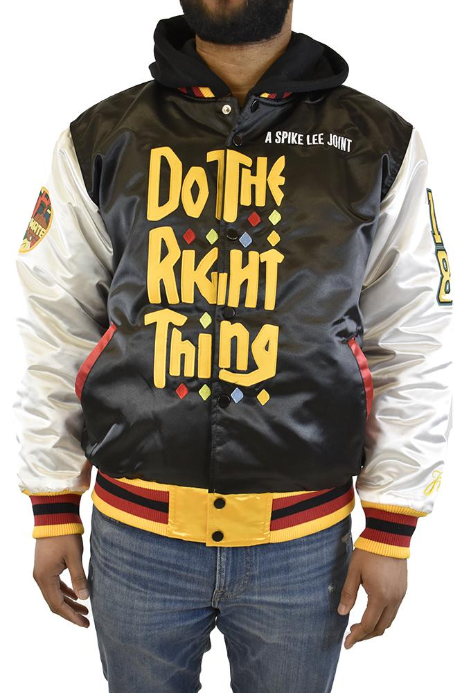 DO THE RIGHT THING SATIN JACKET