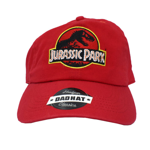 JURASSIC PARK CLASSIC DAD HAT - RED