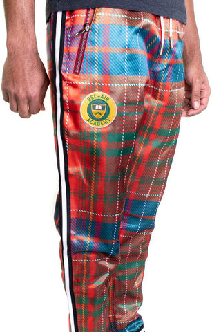 Bel-Air Academy Red Plaid Varsity Satin Pants