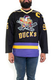 Mighty Ducks Charlie Conway Black Hockey Jersey