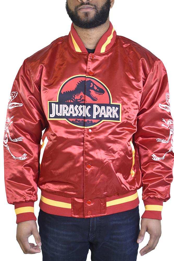 RED JURASSIC PARK SATIN JACKET