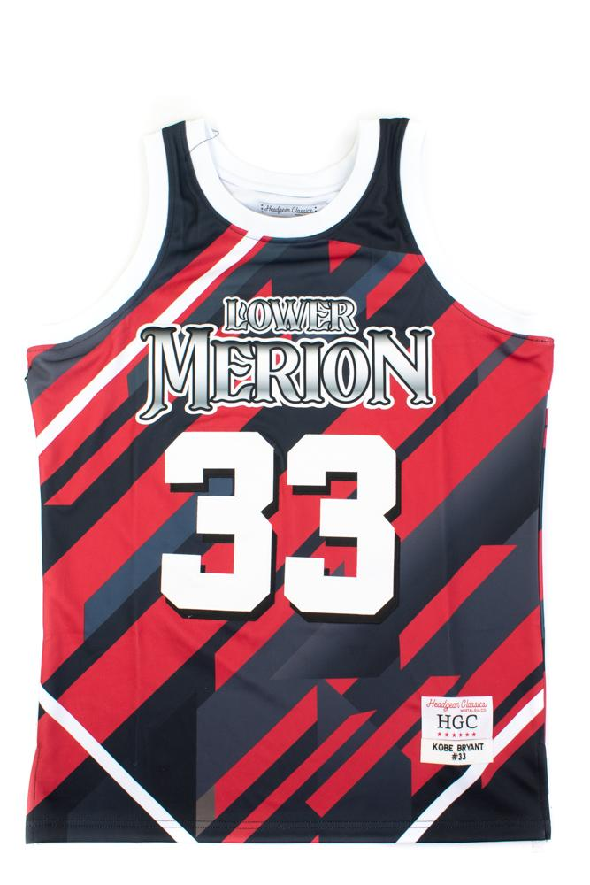 Kobe Bryant  Lower Merion Alternate Blue and Red High School Basketball Jersey - shopallstarsports.com