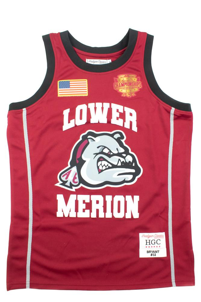 Kobe Bryant National Champion Lower Merion Maroon And Gold High School Basketball Jersey - shopallstarsports.com