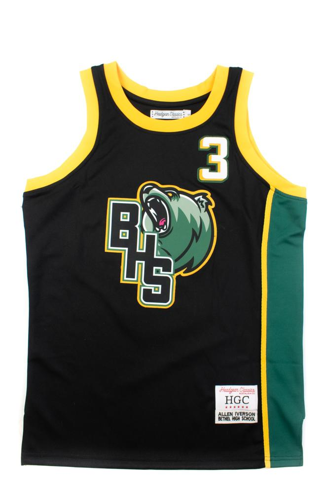 Allen Iverson Black Alternate High School Basketball Jersey - shopallstarsports.com