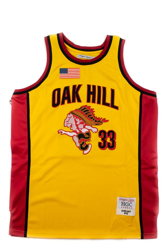Kevin Durant Oak Hill Mascot Yellow Alternate High School Basketball Jersey - shopallstarsports.com
