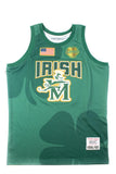 Lebron James Clover Print Alternate High School Basketball Jersey