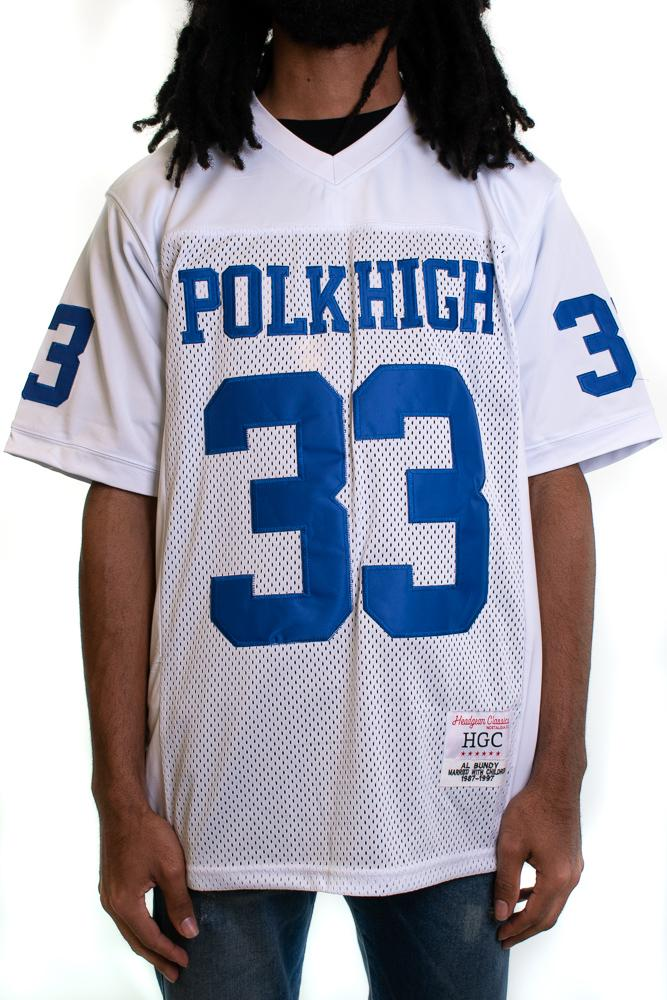 Al Bundy Polk High White Football Jersey - shopallstarsports.com