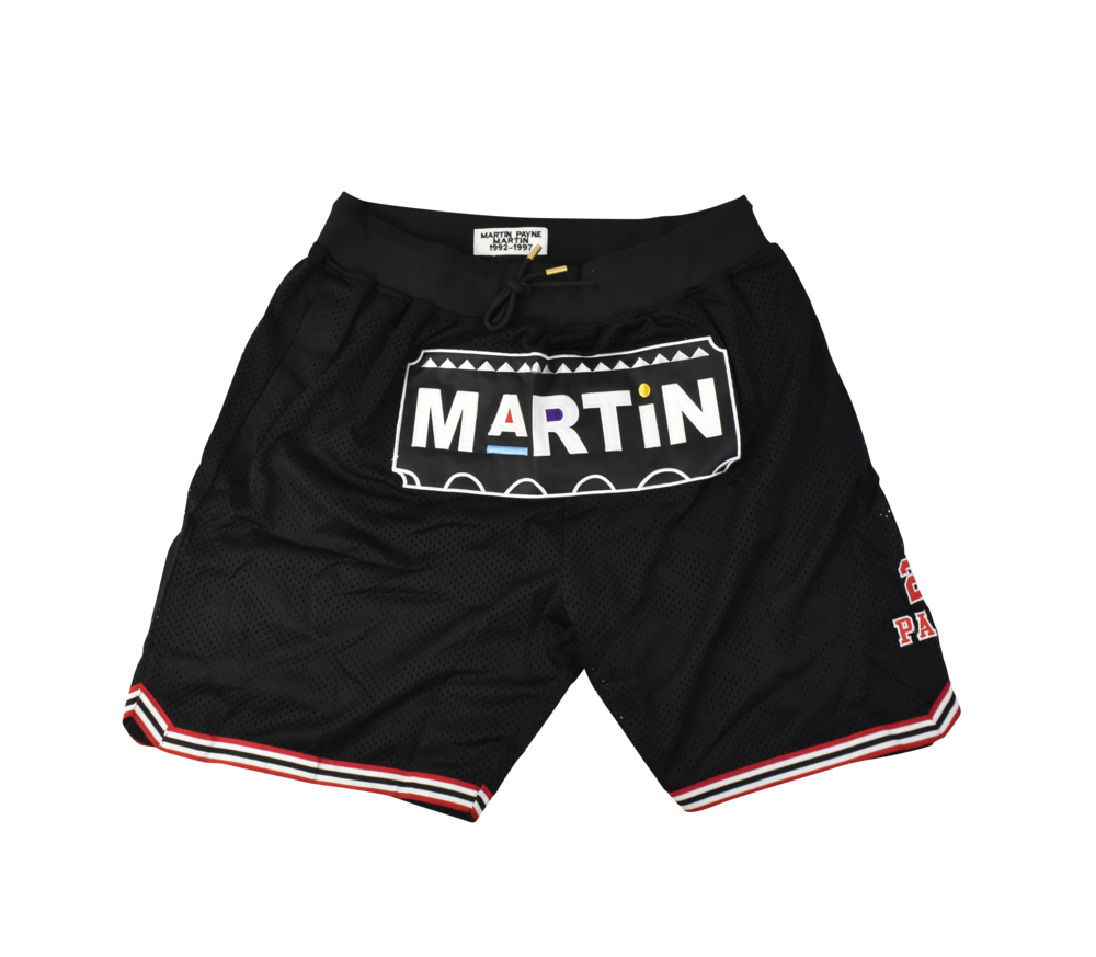 Martin Black Basketball Shorts