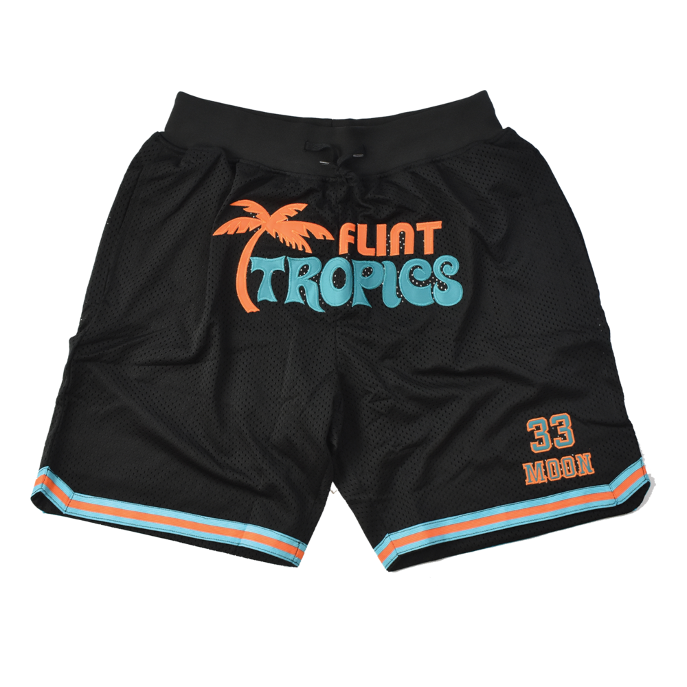 Flint Tropics Jackie Moon Black Basketball Shorts