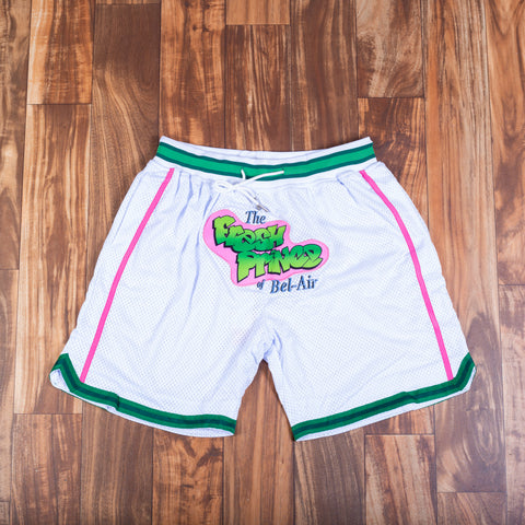 FRESH PRINCE WHITE BASKETBALL SHORTS