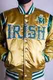 LEBRON JAMES FRIGHTING IRISH GOLD SATIN JACKET