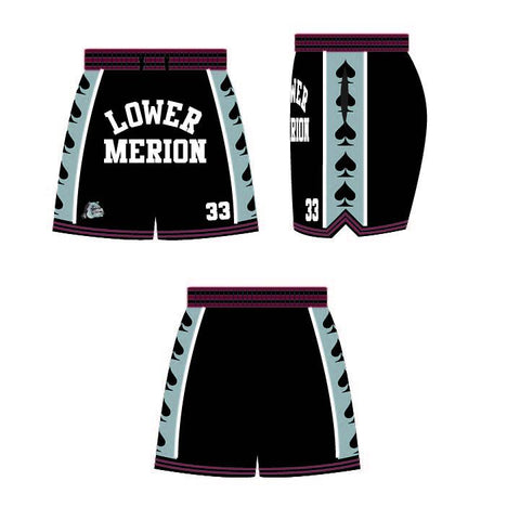 Kobe Bryant Black Lower Merion Basketball Shorts