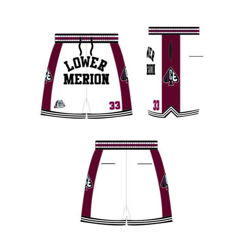 Kobe Bryant White Lower Merion Basketball Shorts