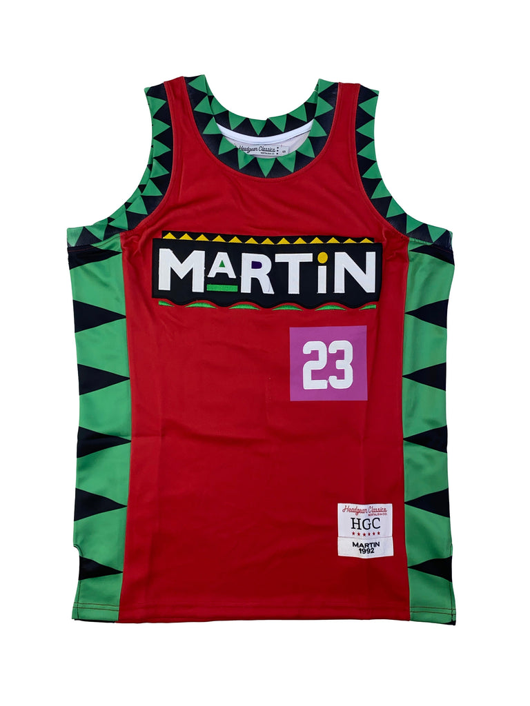 Red martin basketball Jersey