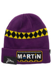 MARTIN PURPLE BEANIE HAT