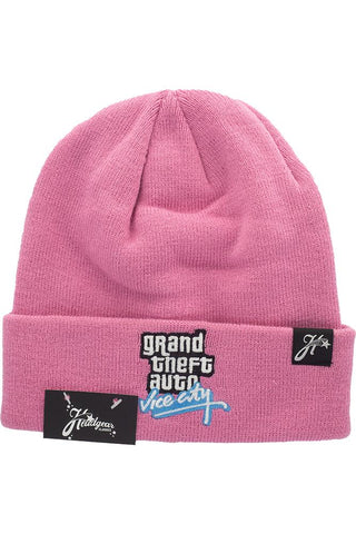 GRAND THEFT AUTO VICE CITY PINK BEANIE HAT