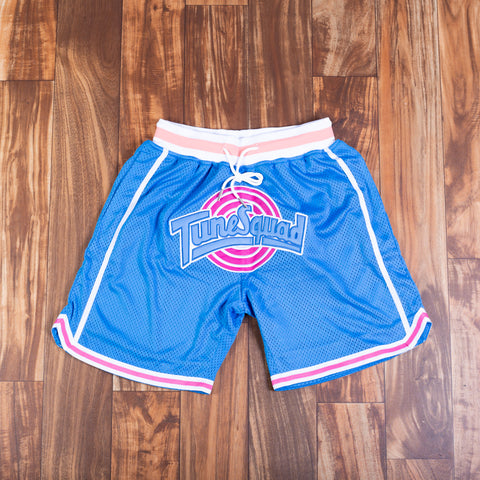 TUNE SQUAD BLUE BASKETBALL SHORTS