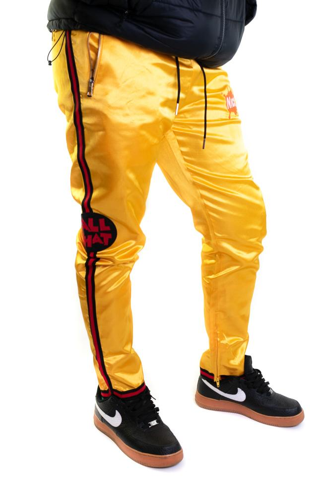 Yellow All That Satin Pants - shopallstarsports.com