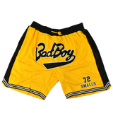 Bad Boy Biggie Smalls Yellow Basketball Shorts