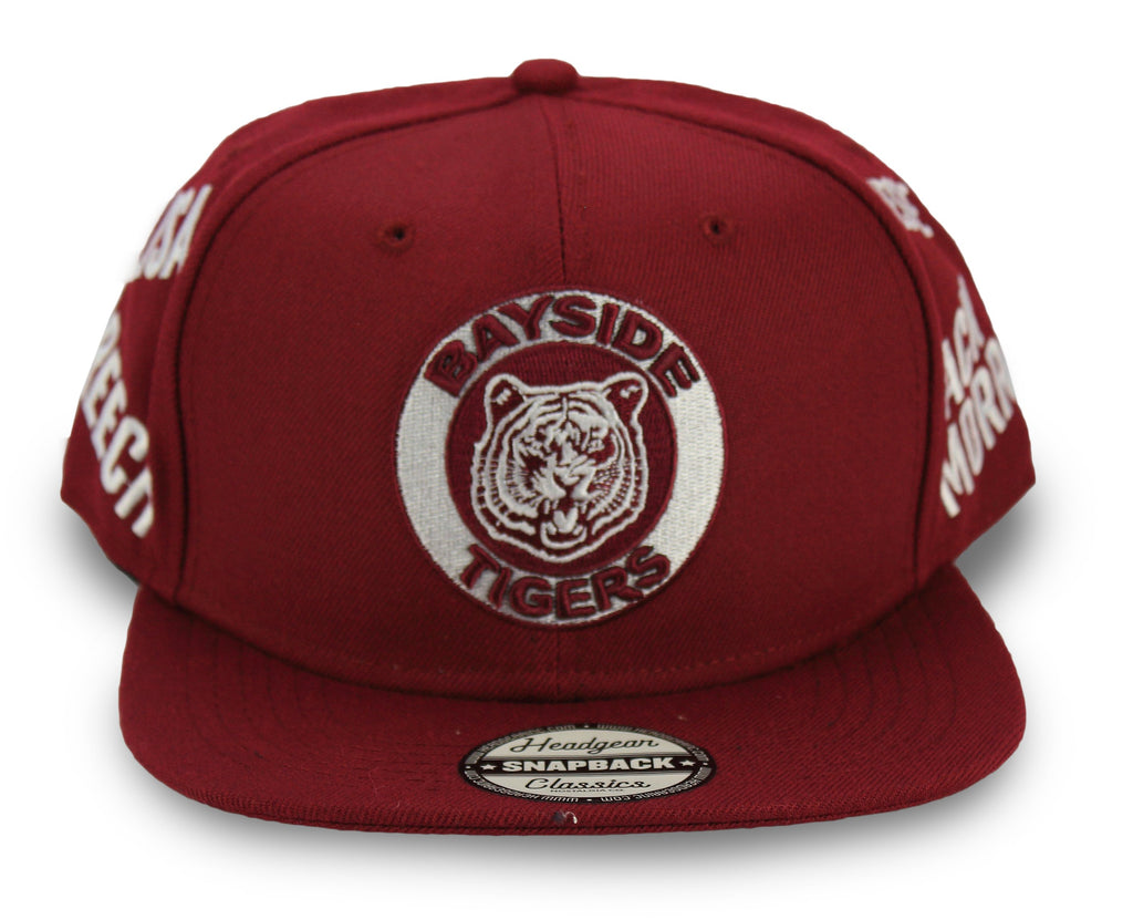 Saved By The Bell Bayside Tigers Collage Snapback Hat - shopallstarsports.com