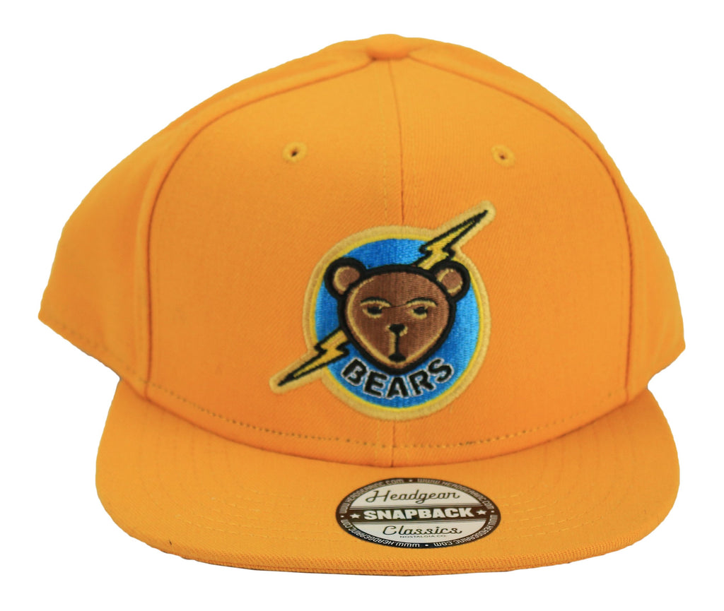 Bad News Bears Yellow Snapback Hat - shopallstarsports.com