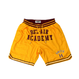 Bel-Air Academy Will Smith Gold Basketball Shorts