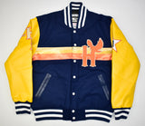 HOUSTON BLACK EAGLES NAVY VARSITY JACKET