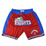 Calvin Cambridge Front Logo Red Basketball Shorts