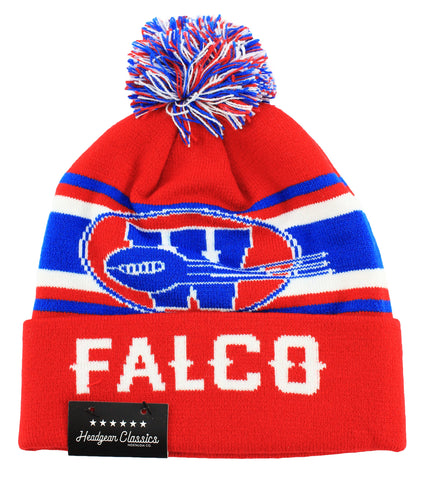 The Replacements Shane Falco Red Beanie Hat - shopallstarsports.com
