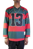 Freddy Krueger Striped Hockey Jersey