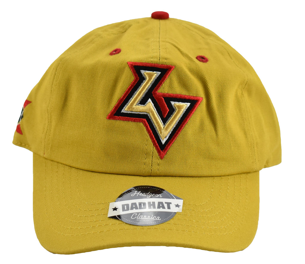Las Vegas Outlaws He Hate Me Gold Dad Hat - shopallstarsports.com