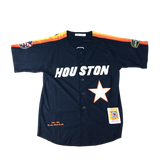 Houston Black Eagles Navy Blue Button Down Jersey