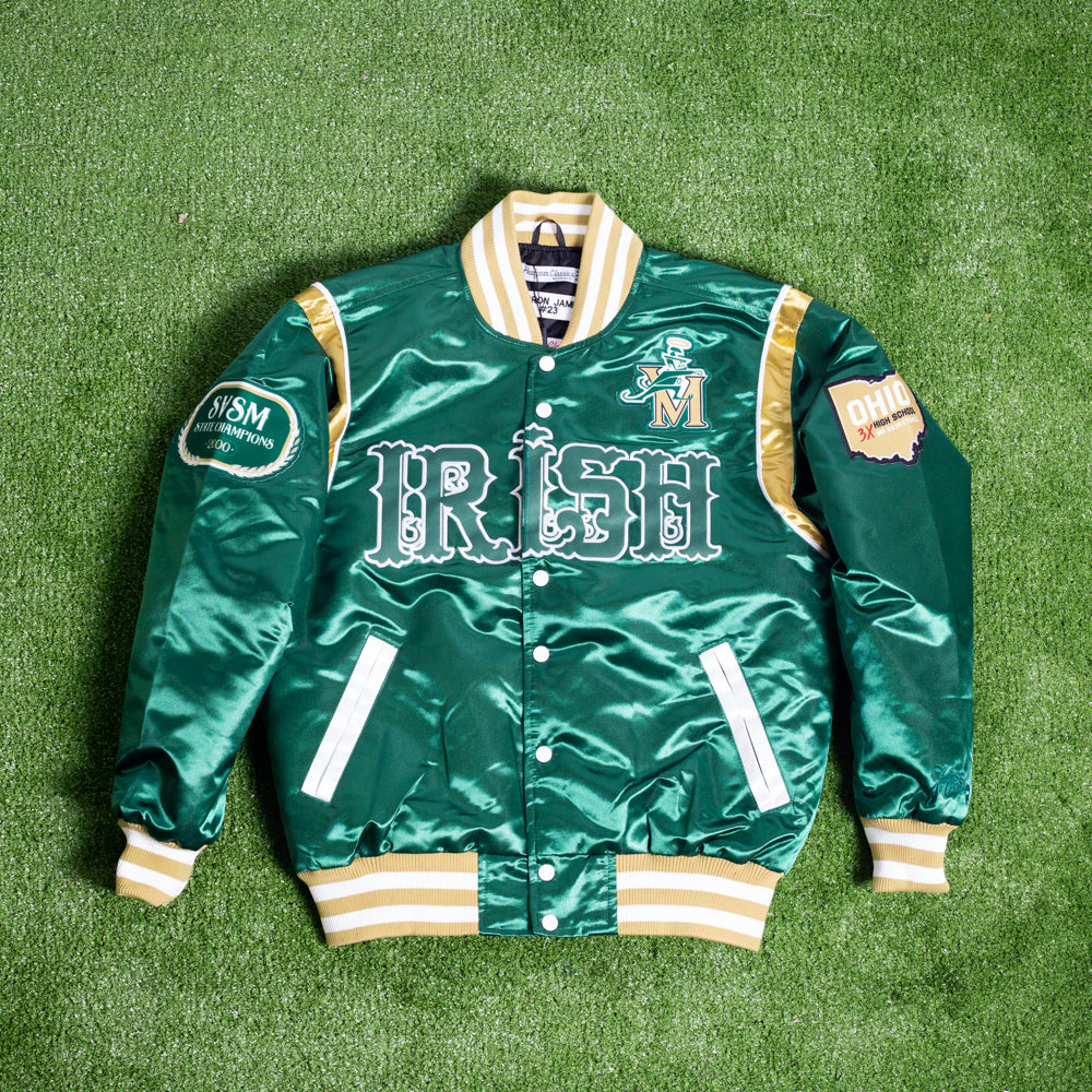 LEBRON JAMES IRISH HIGH SCHOOL GREEN SATIN JACKET