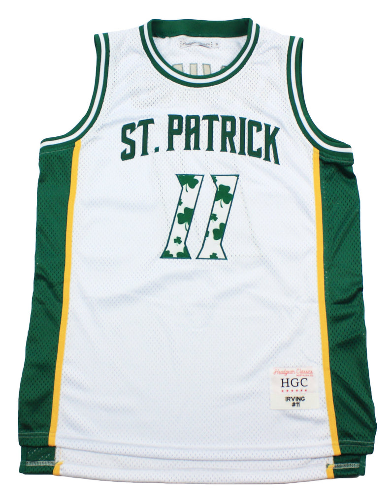 Kyrie Irving White Alternate St. Patrick High School Basketball Jersey - shopallstarsports.com