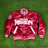 KOBE BRYANT LOWER MERION MAROON SATIN JACKET