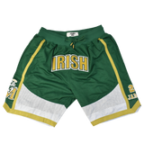 Lebron James Fighting Irish Front Logo Basketball Shorts