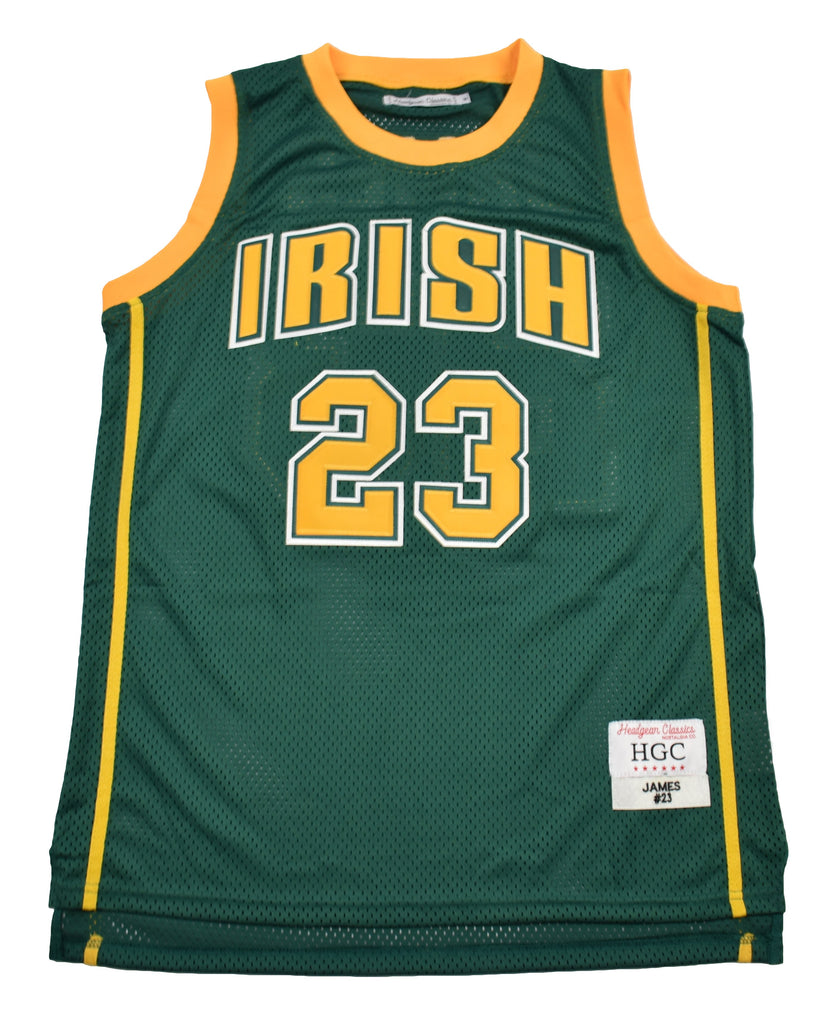 Lebron James Fighting Irish Green High School Basketball Jersey - shopallstarsports.com
