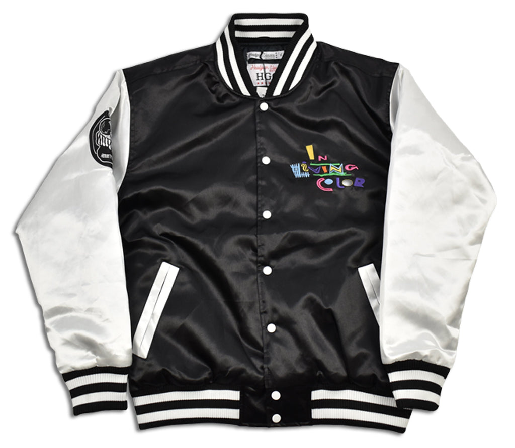 In Living Color Satin Jacket - shopallstarsports.com