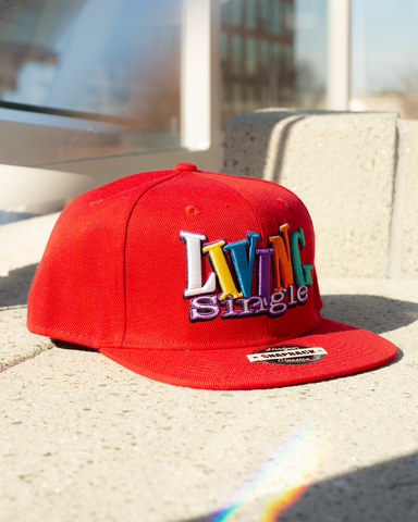 LIVING SINGLE RED SNAPBACK