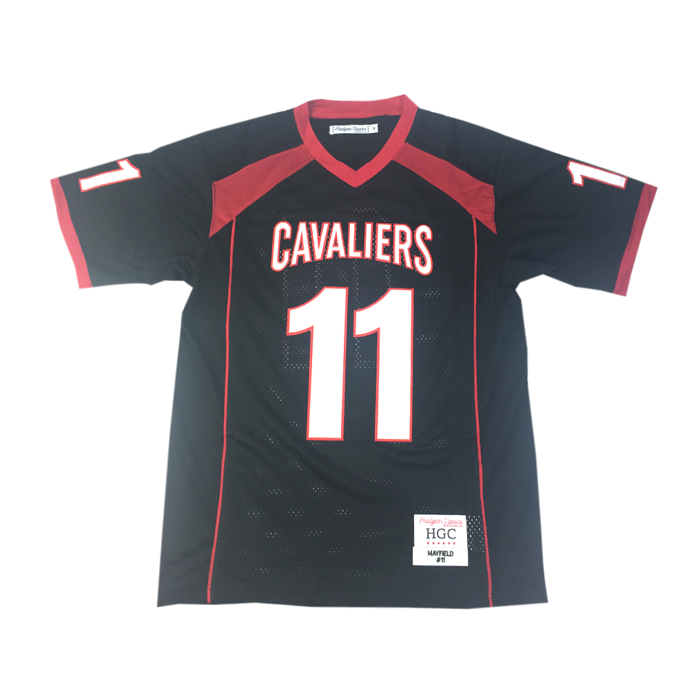 Baker Mayfield Black High School Football Jersey - shopallstarsports.com