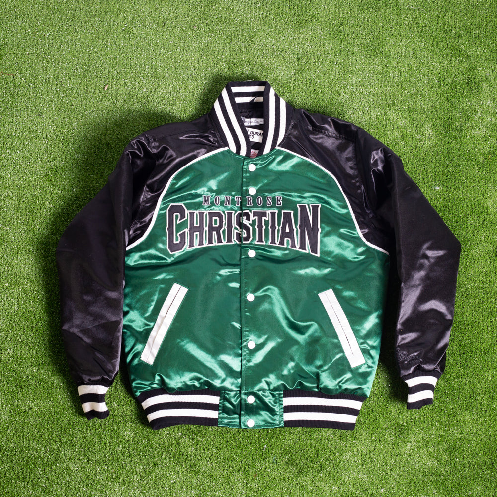 KEVIN DURANT HIGH SCHOOL GREEN SATIN JACKET