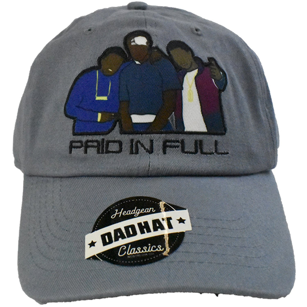 Paid In Full Grey Dad Hat - shopallstarsports.com