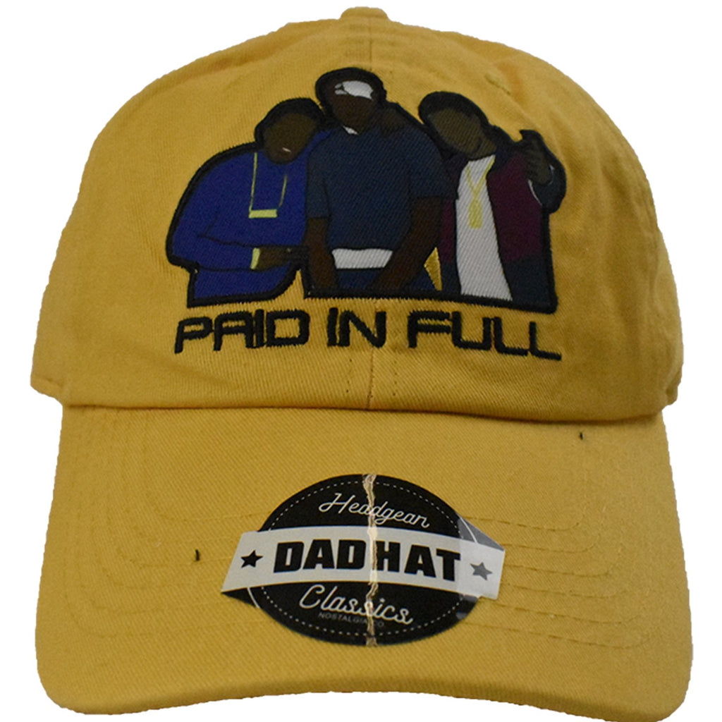 Paid In Full Yellow Dad Hat - shopallstarsports.com