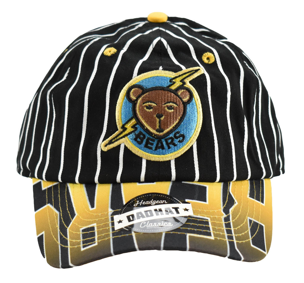Bad News Bears Tanner Boyle Black Pinstripe Dad Hat - shopallstarsports.com