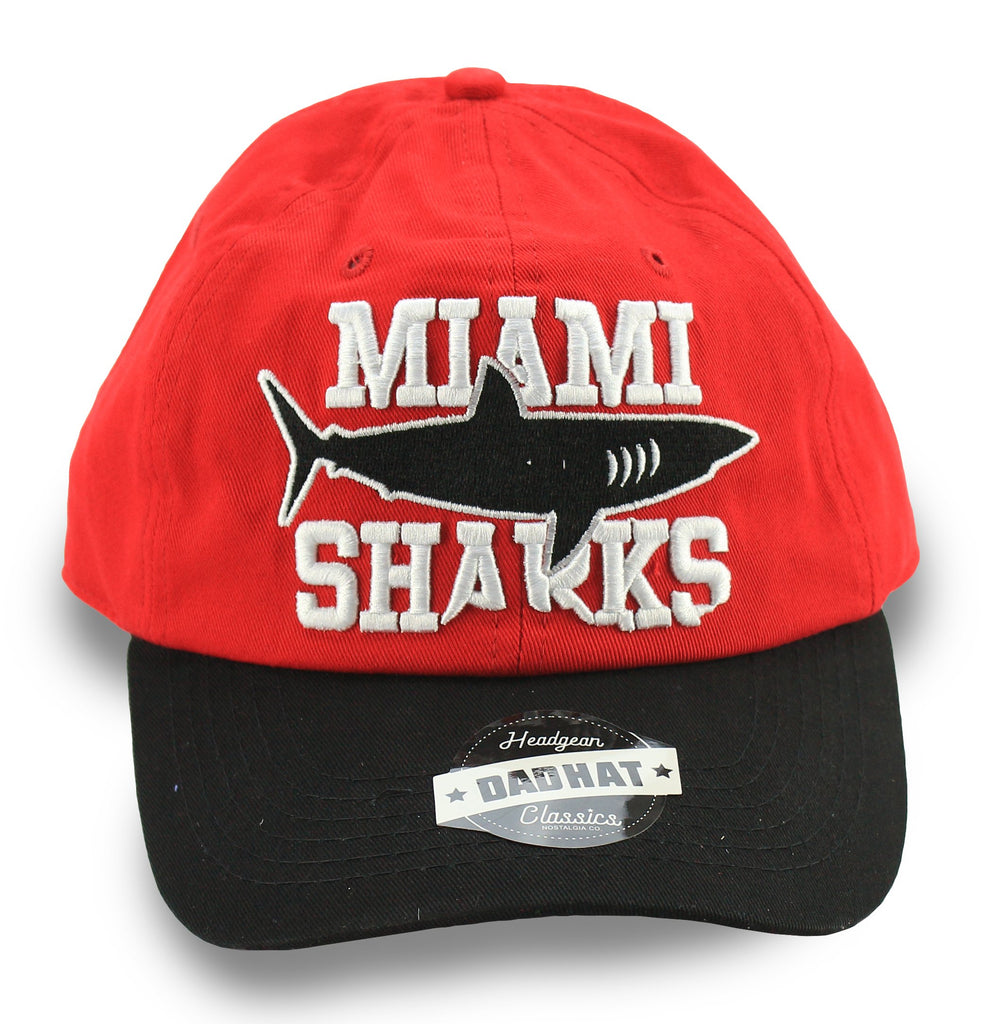 Miami Sharks Willie Beamen Red Dad Hat - shopallstarsports.com