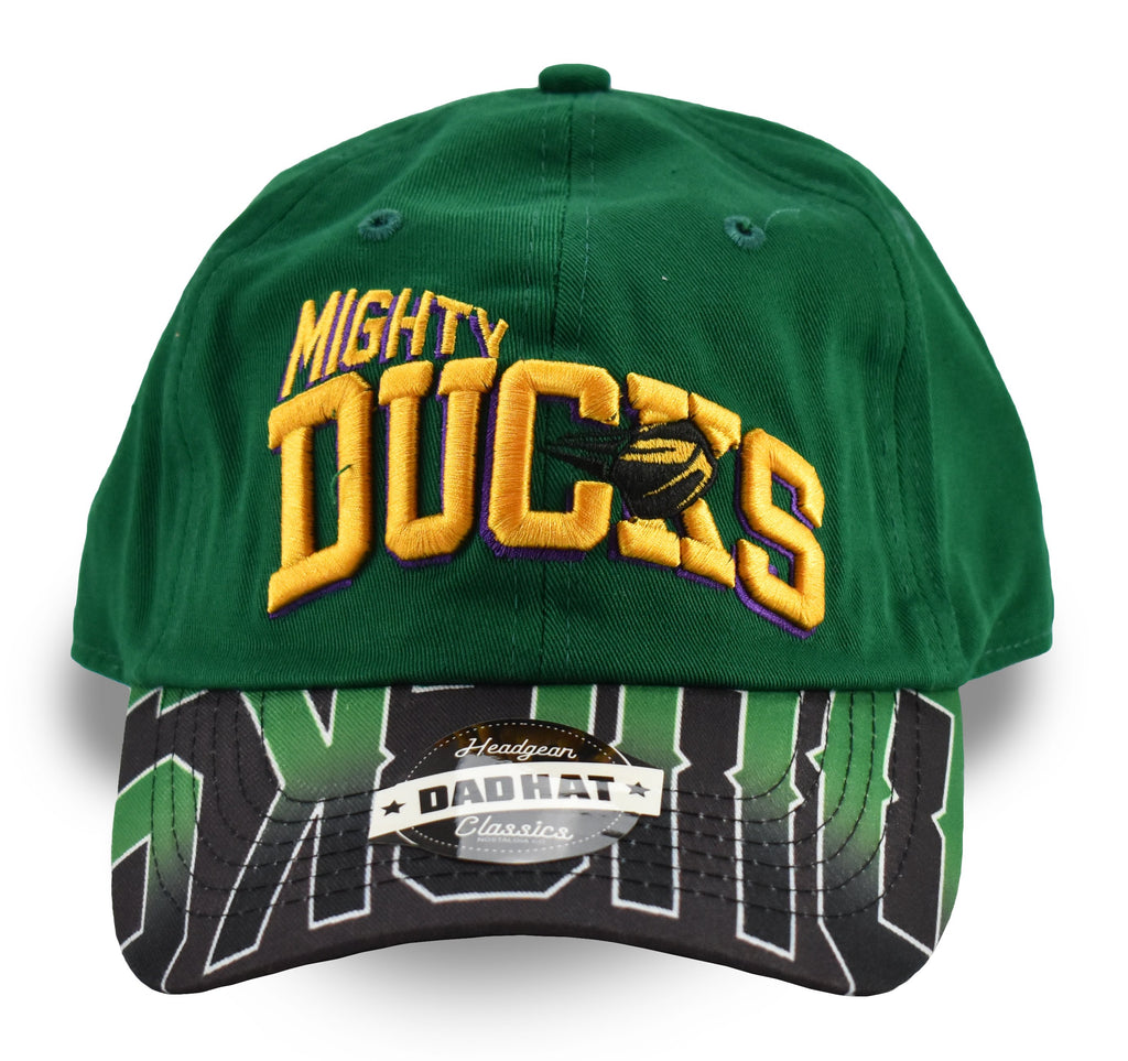 Retro Mighty Ducks Green Dad Hat - shopallstarsports.com
