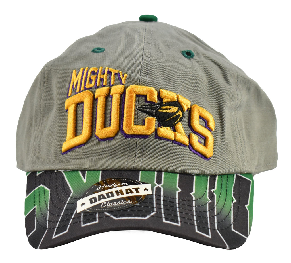 Mighty Ducks Grey Retro Dad Hat - shopallstarsports.com