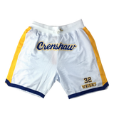 Monica Wright White Crenshaw basketball Shorts