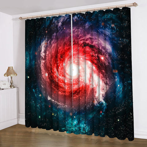 Anoleu Beautiful Galaxy Window Curtains Extra Wide Window