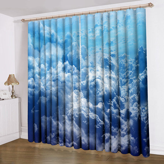 Home Design Ideas Curtains: Cloud Window Curtains 3D Printing Nautical Home Decor